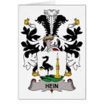 Escudo de la familia de Hein Felicitación