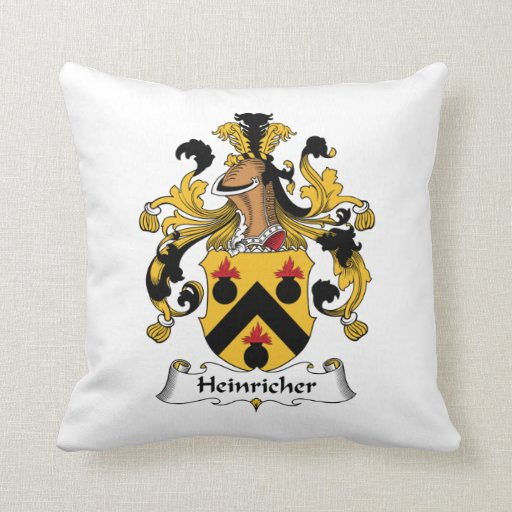 Escudo de la familia de Heinricher Cojín