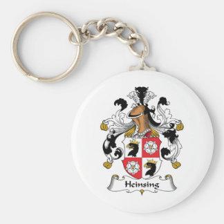 Escudo de la familia de Heinsing Llavero Redondo Tipo Pin