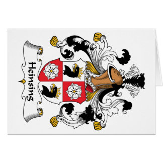 Escudo de la familia de Heinsing Tarjeta De Felicitación
