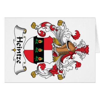 Escudo de la familia de Heintze Tarjeta De Felicitación
