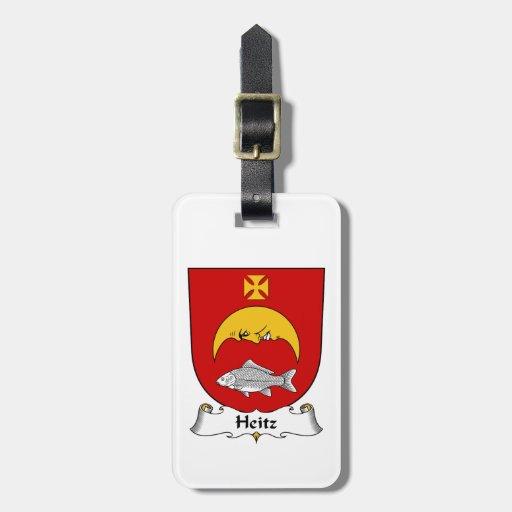 Escudo de la familia de Heitz Etiquetas De Equipaje