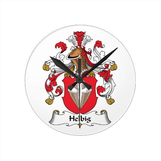 Escudo de la familia de Helbig Reloj Redondo Mediano