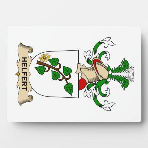 Escudo de la familia de Helfert Placas