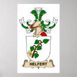 Escudo de la familia de Helfert Poster