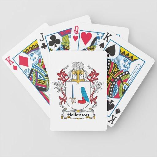 Escudo de la familia de Helleman Baraja Cartas De Poker