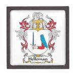 Escudo de la familia de Helleman Cajas De Recuerdo De Calidad