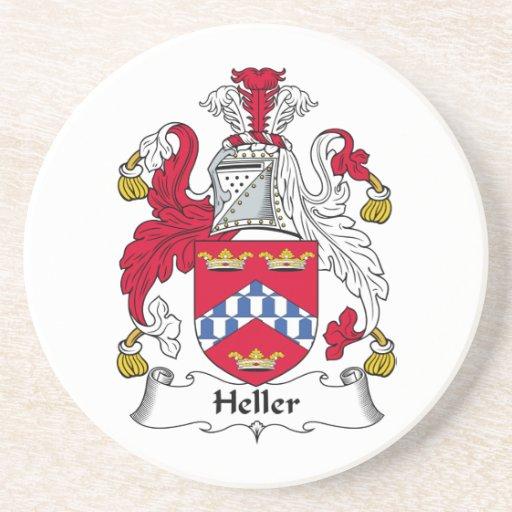 Escudo de la familia de Heller Posavasos Personalizados