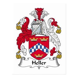 Escudo de la familia de Heller Tarjetas Postales