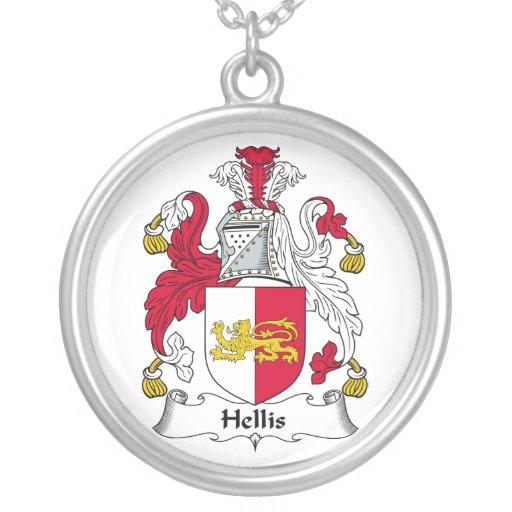 Escudo de la familia de Hellis Colgante Redondo