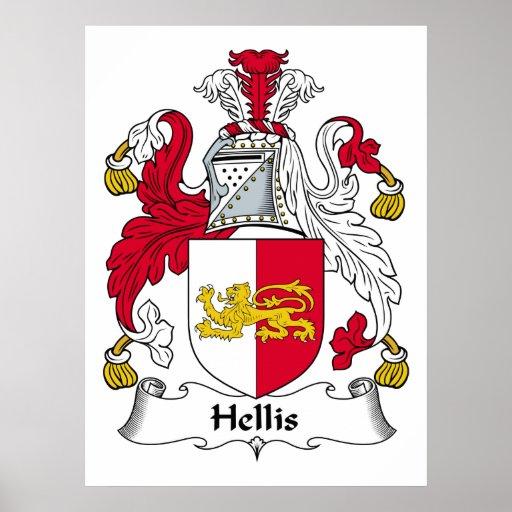 Escudo de la familia de Hellis Póster