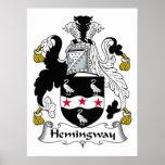 Escudo de la familia de Hemingway Posters