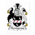 Escudo de la familia de Hemingway Tarjeta Postal