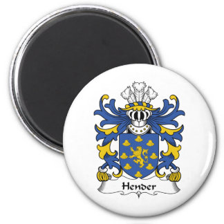 Escudo de la familia de Hender Imán Redondo 5 Cm
