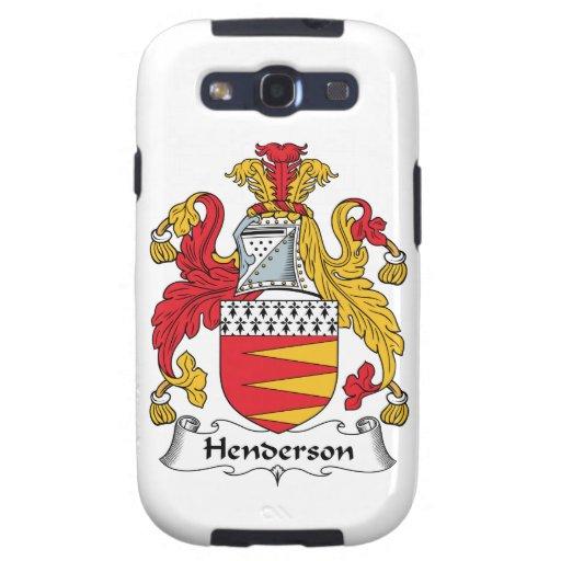 Escudo de la familia de Henderson Galaxy SIII Fundas