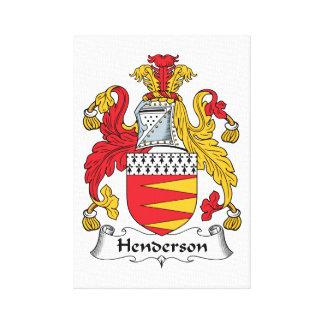 Escudo de la familia de Henderson Impresiones En Lona