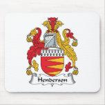 Escudo de la familia de Henderson Alfombrillas De Ratones