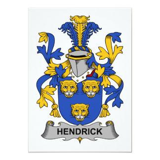 Escudo de la familia de Hendrick Invitación 12,7 X 17,8 Cm