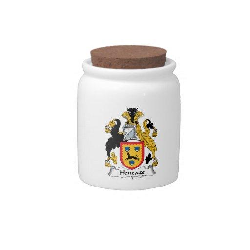 Escudo de la familia de Heneage Jarra Para Caramelo