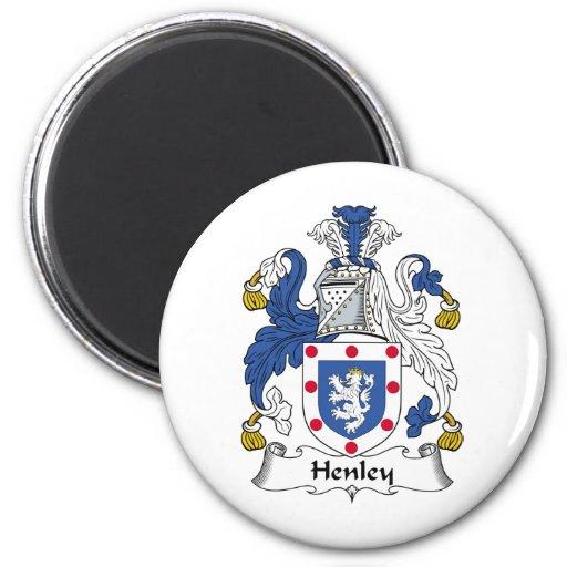 Escudo de la familia de Henley Imán Redondo 5 Cm