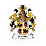 Escudo de la familia de Hennig Postal