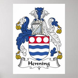 Escudo de la familia de Henning Poster