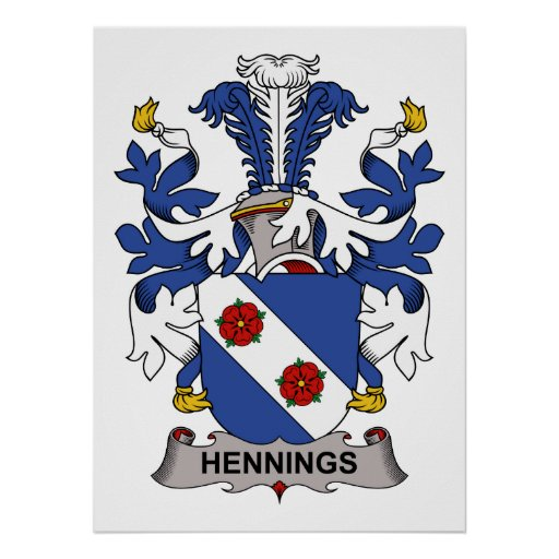 Escudo de la familia de Hennings Póster