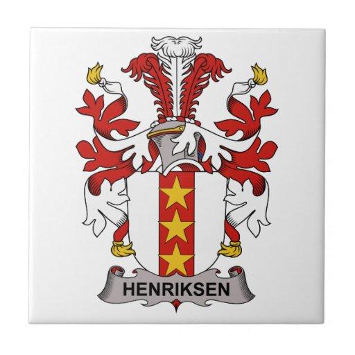 Escudo de la familia de Henriksen Azulejo Cuadrado Pequeño