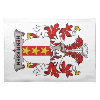 Escudo de la familia de Henriksen Manteles Individuales