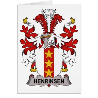 Escudo de la familia de Henriksen Tarjeta De Felicitación