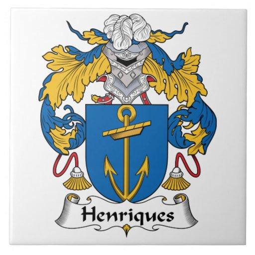 Escudo de la familia de Henriques Azulejo Cerámica