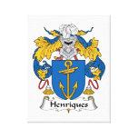 Escudo de la familia de Henriques Lona Envuelta Para Galerias