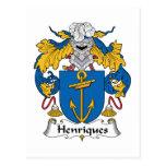 Escudo de la familia de Henriques Postal