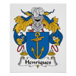 Escudo de la familia de Henriques Posters
