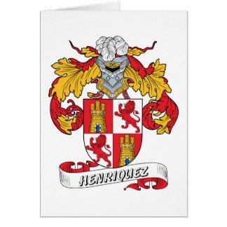 Escudo de la familia de Henriquez Tarjeta