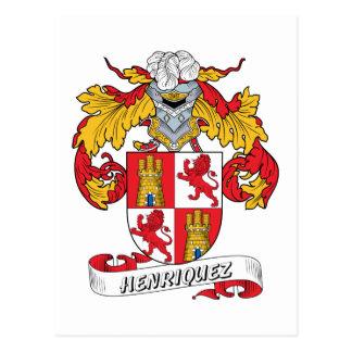 Escudo de la familia de Henriquez Postal