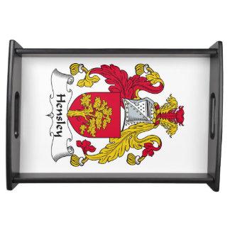 Escudo de la familia de Hensley Bandejas