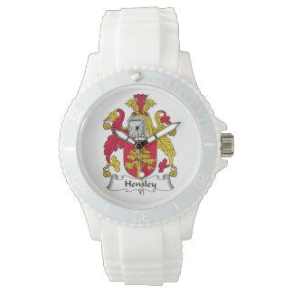 Escudo de la familia de Hensley Relojes De Mano