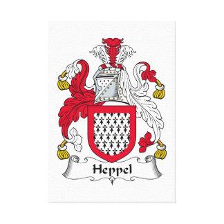 Escudo de la familia de Heppel Impresión En Lienzo Estirada