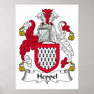 Escudo de la familia de Heppel Poster