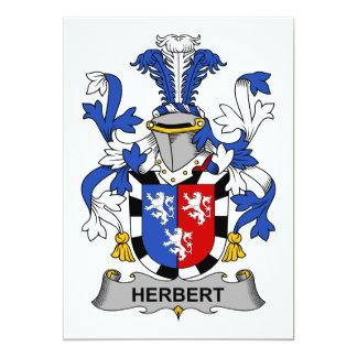 Escudo de la familia de Herberto Invitación 12,7 X 17,8 Cm