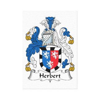Escudo de la familia de Herberto Impresiones En Lona