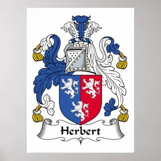 Escudo de la familia de Herberto Poster