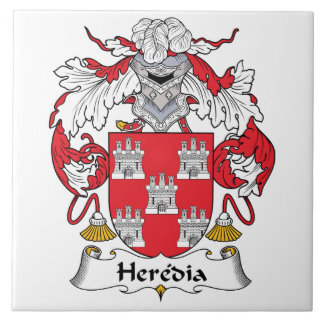Escudo de la familia de Heredia Azulejo Cuadrado Grande