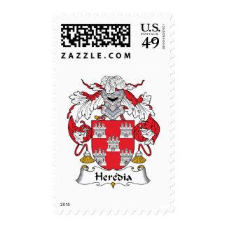 Escudo de la familia de Heredia Estampilla
