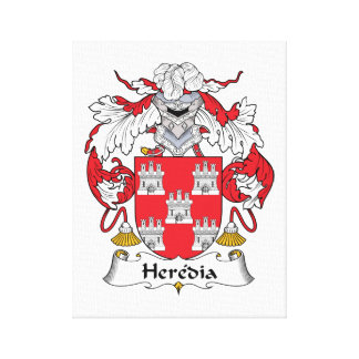 Escudo de la familia de Heredia Impresión En Lona Estirada