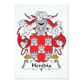 """Escudo de la familia de Heredia Invitación 5"""" X 7"""""""