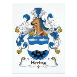 Escudo de la familia de Hering Invitación 16,5 X 22,2 Cm