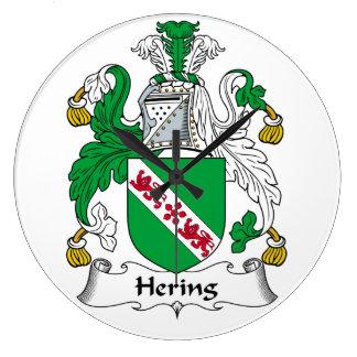 Escudo de la familia de Hering Reloj Redondo Grande