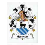 Escudo de la familia de Heringer Invitación 16,5 X 22,2 Cm